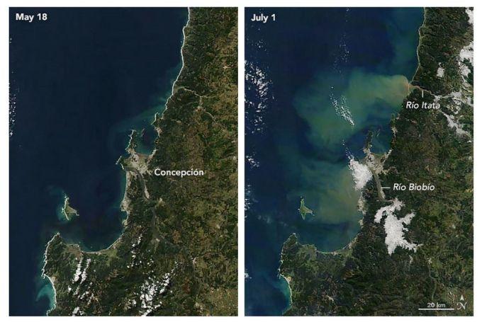 Río Atmosférico se junta con un Río Terrestre - Concepción - Chile