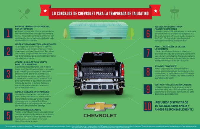 Chevrolet 10 consejos para el Tailgating