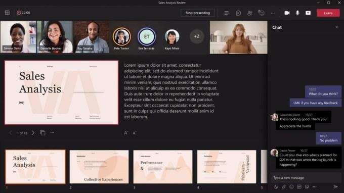 Microsoft Teams - PowerPoint en Vivo - Modo Presentador