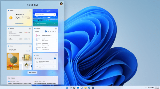Windows 11 - News and Information Widgets