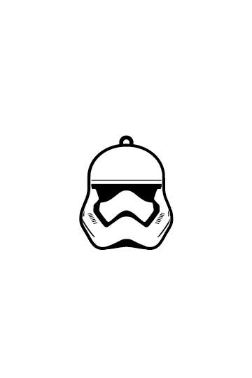 Star Wars Episode VII Rubber Keychain Stormtrooper 6 cm