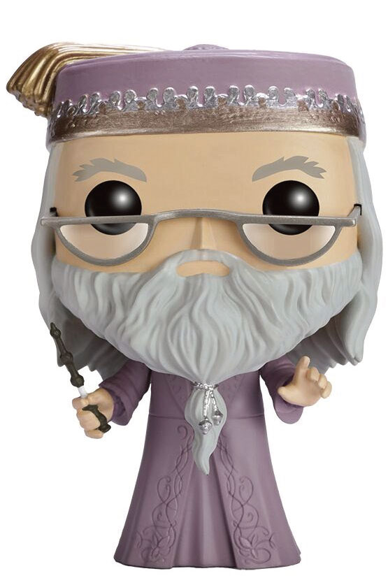 Harry Potter POP! Movies Vinyl Figure Dumbledore with Wand 9 cm