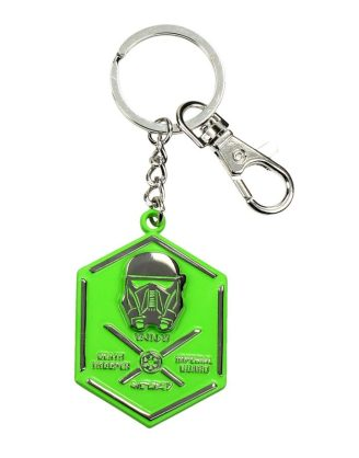 x_sdtsdt27619 Star Wars Rogue One Metal Keychain Death Trooper