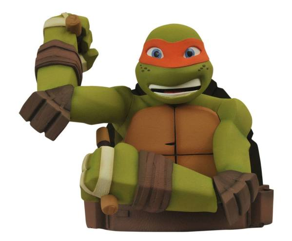 x_diamapr141974 Teenage Mutant Ninja Turtles Bust Bank Michelangelo 20 cm