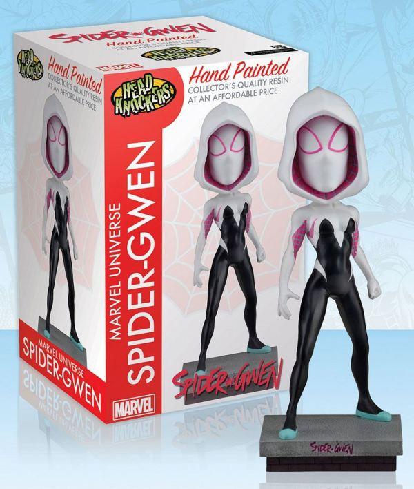 x_neca61500 Marvel Comics Head Knocker Bobble-Head Spider-Gwen Classic Masked 20 cm