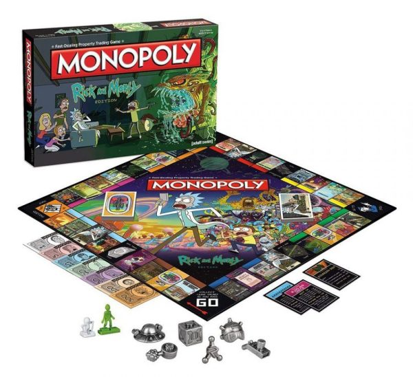 x_wimo002701 Rick and Morty Board Game Monopoly *English Version*