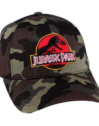 x_acjupamcp003 Jurassic Park Baseball Cap Camouflage Logo