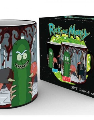 x_gye-mgh0090 Rick and Morty Heat Change Mug Pickle Rick