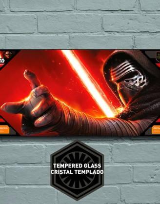 x_sdtsdt89832 Star Wars Episode VII Glass Poster Kylo Ren 50 x 25 cm