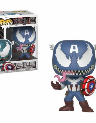 x_fk32686 Venom Marvel Comics Funko POP! Figura - Venomized Captain America 9 cm