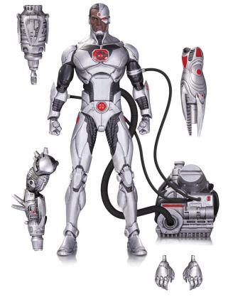 x_dccoct160345 DC Comics Icons Deluxe Akciófigura - Cyborg 15 cm