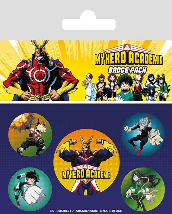 x_bp80649 My Hero Academia - Characters kitűzők