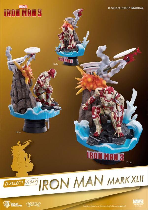 x_bkdds-016sp Iron Man 3 D-Select PVC Diorama Iron Man Mark XLII 15 cm