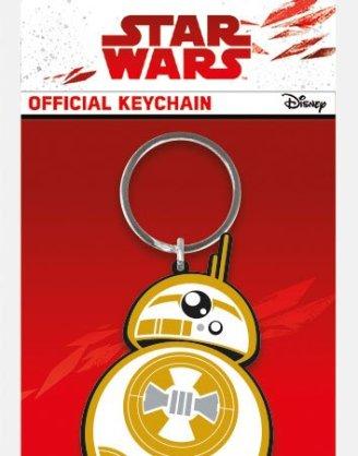 x_rk38746c Star Wars Episode VIII Rubber Keychain BB-8 6 cm