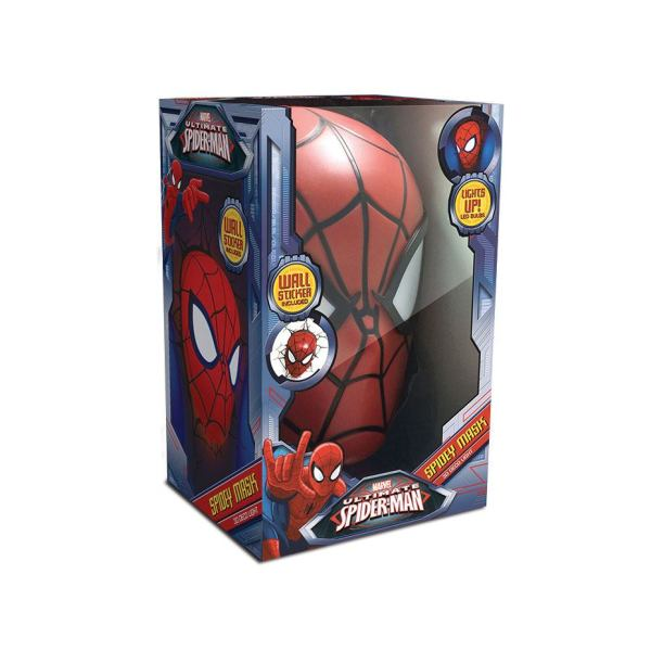 x_3dl49466 Marvel Comics 3D LED világítás - Pókember Maszk
