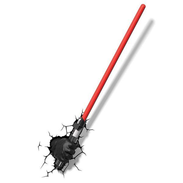 x_3dl51342 Star Wars 3D LED világítás - Darth Vader Hand with Lightsaber