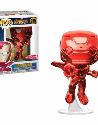 x_fk34263 Avengers Infinity War POP! figura - Iron Man Red Chrome Target Exclusive 9 cm