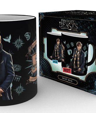 x_gye-mgh0033 Fantastic Beasts - Newt Scamander hőre változós bögre