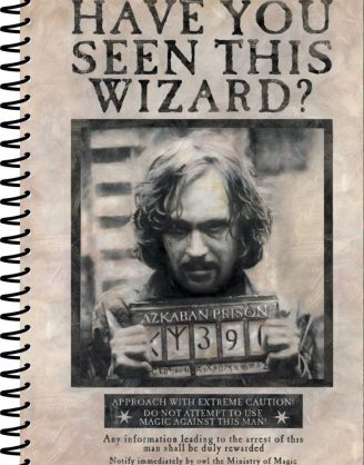 x_sr72252 Harry Potter A5 Jegyzetfüzet - Wanted Sirius Black