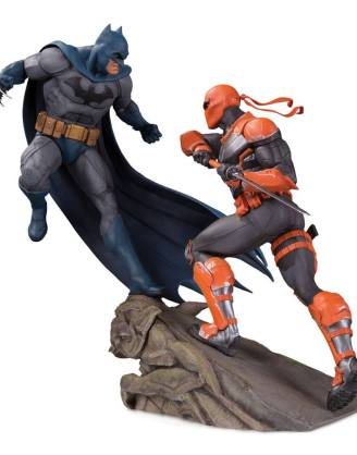 x_dccmay190541 DC Comics Battle Szobor - Batman vs. Deathstroke 30 cm