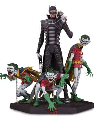 x_dccmay190542 Dark Nights Metal Deluxe Szobor - Batman Who Laughs & Robin Minions 21 cm