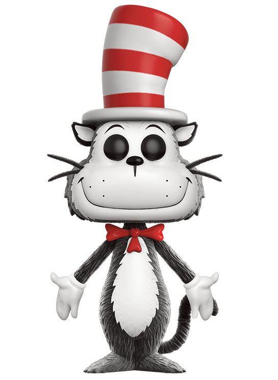 x_fk12509 Dr. Seuss POP! Figura - Cat in the Hat (Flocked) 9 cm