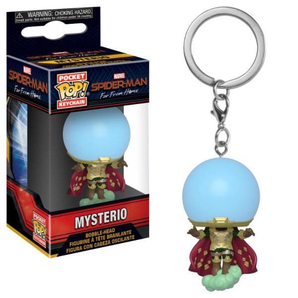 x_fk39363 Spider-Man: Far From Home Funko Pocket POP! Kulcstartó – Mysterio 4 cm