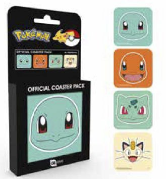 x_gye-csp0051 Pokemon Poháralátét 4db Faces