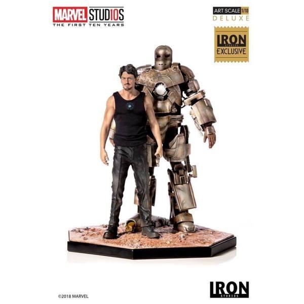 x_is300imm Marvel Comics Szobor 1/10 Iron Man Mark I CCXP 2019 Exclusive 21 cm