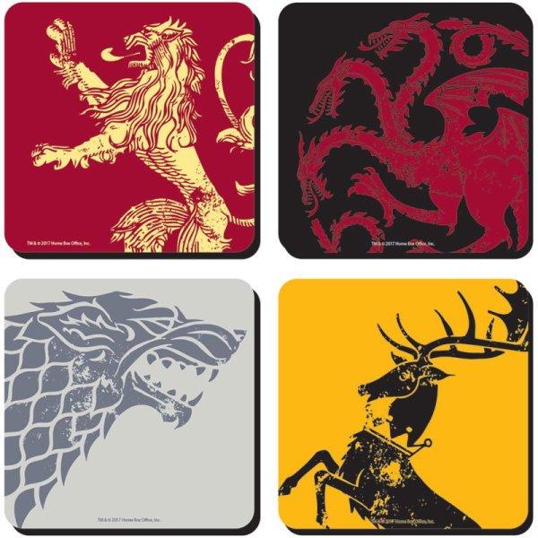 x_hmb-cst4gt01 Game of Thrones Poháralátét 4 db