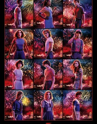 x_pp34536 Stranger Things poszter - Character Montage S3 61 x 91 cm