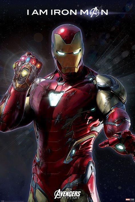 x_pp34542 Marvel Comics Avengers: Endgame poszter - I Am Iron Man 61 x 91 cm