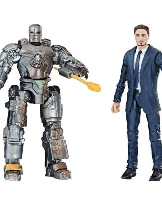 x_hase2453 Iron Man Marvel Legends Series Action Figure 2-Pack Tony Stark & Iron Man Mark I 15 cm