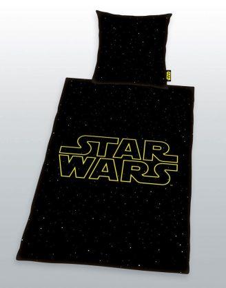 x_hhe4476273050 Star Wars ágynemű garnitúra - Logo Galaxy 135 x 200 cm / 80 x 80 cm