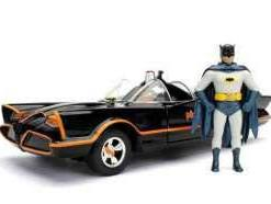 x_jada98259 Batman Metals Diecast Model 1/24 - 1966 Classic TV Series Batmobile with figure