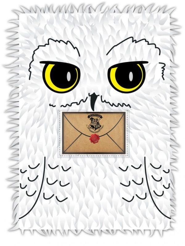x_bssslhp258 Harry Potter A5 Plüss Jegyzetfüzet - Hedwig