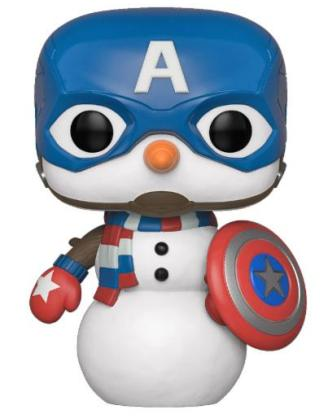 x_fk43335 Marvel Holiday Funko POP! Figura – Captain America 9 cm