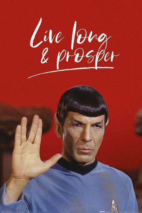 x_pp34564 Star Trek poszter - Live Long and Prosper 61 x 91 cm