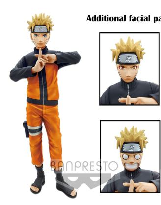 Naruto Shippuden Grandista nero Szobor - Uzumaki Naruto 23 cm
