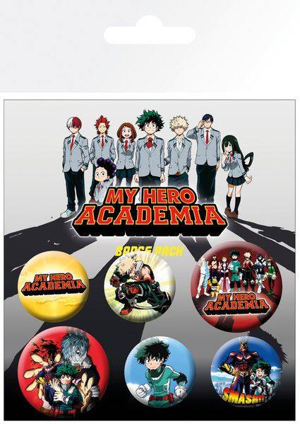 My Hero Academia - Mix kitűzők