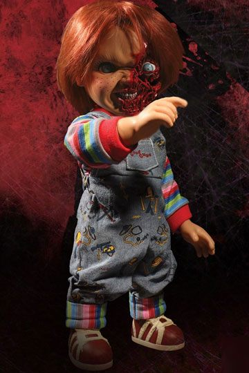 Child´s Play 3 Designer Series - Talking Pizza Face Chucky 38 cm
