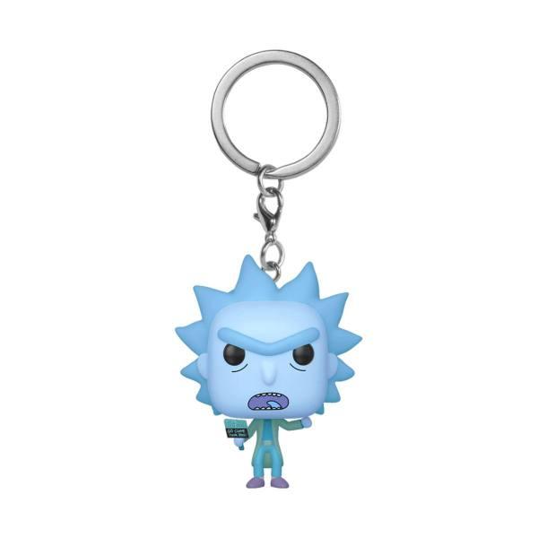 Rick and Morty Funko Pocket POP! kulcstartó - Hologram Rick Clone 4 cm