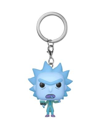 Rick and Morty Funko Pocket POP! kulcstartó - Hologram Rick Clone 4 cm