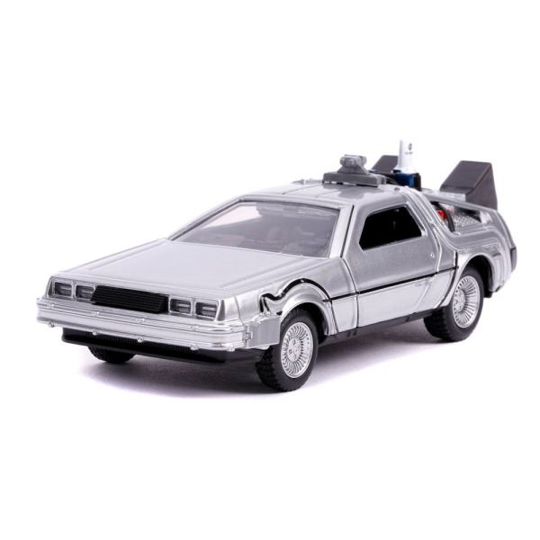 Back to the Future II Hollywood Rides Diecast Model 1/32 - DeLorean Time Machine