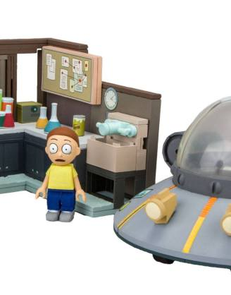 Rick and Morty Large Construction Set - Spaceship & Garage