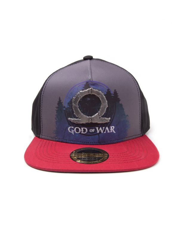 God Of War Sublimation Print Metal Badge Snapback sapka - Logo
