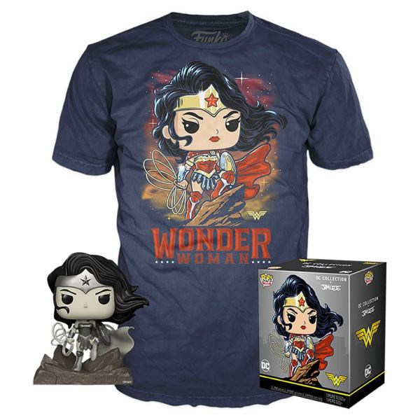 DC Comics Jim Lee Funko POP! & Tee Box Wonder Woman Exclusive