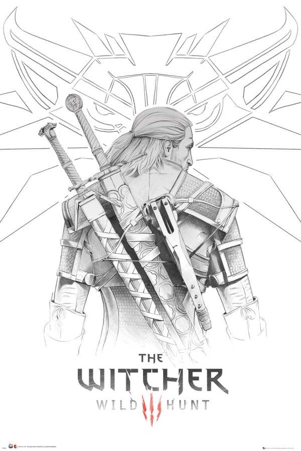 The Witcher poszter - Geralt back 61 x 91 cm