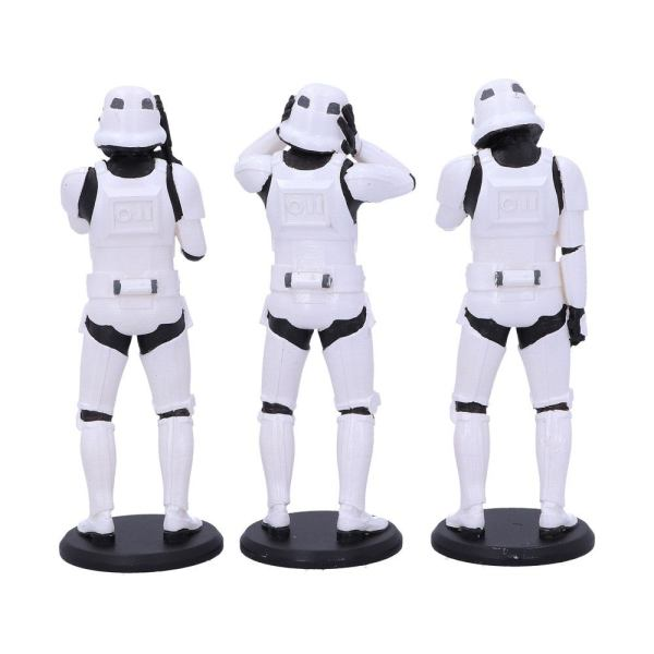 x_nemn-b4889p9 Original Stormtrooper Figura - 3-Pack Three Wise Stormtroopers 14 cm