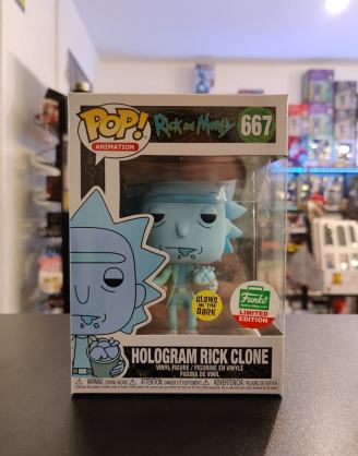 Funko POP Funko Shop EX Animation: Rick & Morty - Hologram Rick Clone (Glow-in-the-Dark)